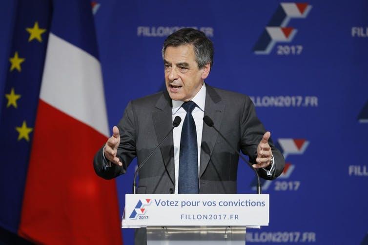François Fillon, candidat des primaires de droite à l'élection présidentielle française de 2017